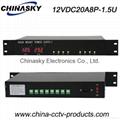 12VDC 20A 8Ch Rack Mount CCTV Power Supply (12VDC20A8P-1.5U)