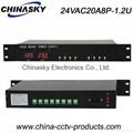 8 Channels 24V AC CCTV Rack Mount CCTV Power Supply (24VAC20A8P-1.2U)