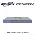 CCTV Security System 24 Ports CCTV POE Switch With Built-in Power (POE2402SFP-3)