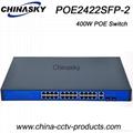 24 Ports CCTV PoE Network Switch Gigabit SFP COMBO POE2422SFP-2 COMBO