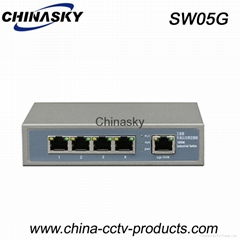 10/100/1000Mbps 5 Ports Gigabit Ethernet Switch (SW05G)