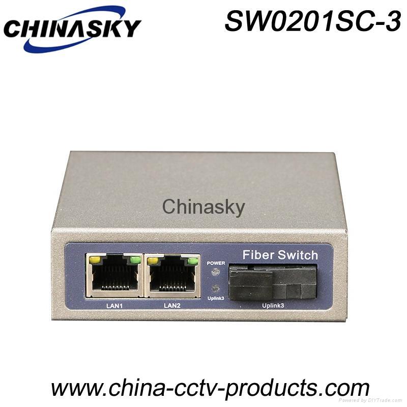 1000Mbps 2 Port RJ45 + 1 Port Sc Enhanced Gigabit Ethernet Switch (SW0201SC-3) 1