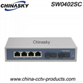4 Port RJ45+ 2 Port Sc Fast  Ethernet Switch (SW0402SC)
