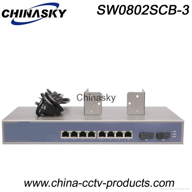 8 RJ45 Port+ 2 Sc Port  Ethernet Switch Gigabit (SW0802SCB-3) 1