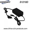 CCTV Switching Power Adapter 12VDC 1A EU Plug(S1210)