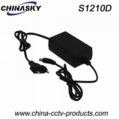 CCTV Switching Power Adapter 12VDC 1A EU Plug(S1210)