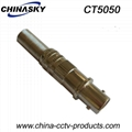 BNC Female Connector with Long Metal Boot / CCTV Female Connector (CT5050)