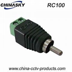 CCTV BNC Connector RCA Male Connector with Screw Terminal(RC100)