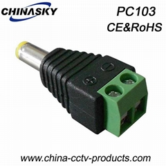 CCTV Power Connector / DC power connector Male  plug with Screw Terminal(PC103)