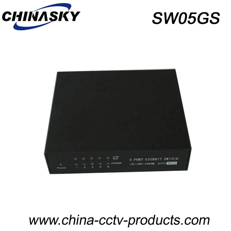 1000Mbps 5 Ports Gigabit Ethernet Switch with Small Case (SW05GS)  1