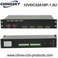 16 Channel 33Amp 1.5U Rack Mount 12V DC Led display(12VDC33A16P-1.5U)