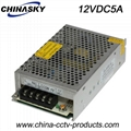 12VDC 5Amp CCTV Power Supply (12VDC5A)
