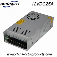 12VDC 25A CCTV Switching Power Supply (12VDC25A)