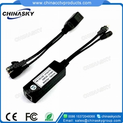 Passive PoE Cable, PoE Splitter x1, PoE Injector x1, 100M (pair)
