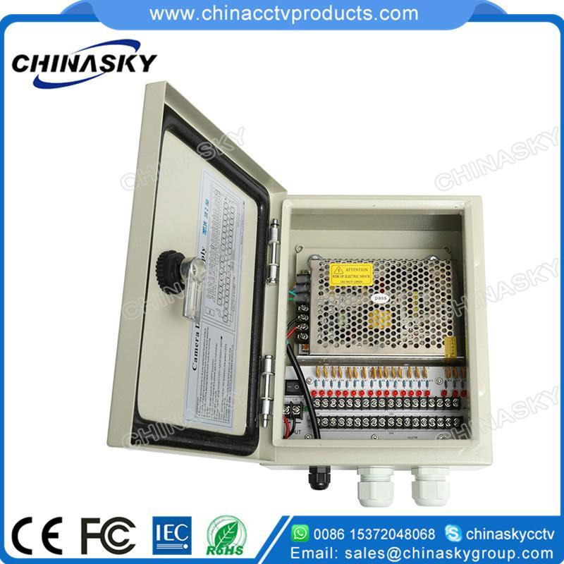 Waterproof CCTV Power Supply Distribution Unit 12VDC10A18PW