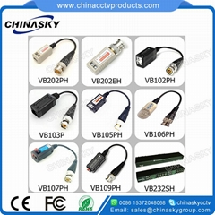 Screwless HD-CVI/TVI/AHD Passive CCTV Video Balun with Pigtail VB102PH