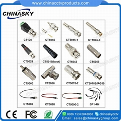BNC Male Connector to Terminal Screws / CCTV Camera Connector (CT120)