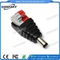 CCTV  Power Connector / Male DC plug / Screw Terminals plug PC100