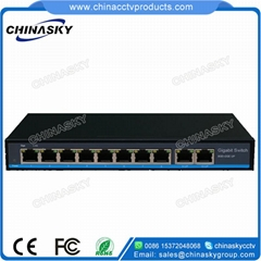 10 Port Full Gigabit PoE Network Switch(POE0820BNH-3)