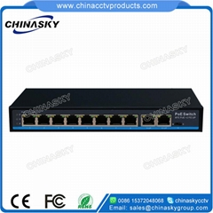 8+2 Port 10/100Mbps PoE Network Switch with 1RJ45 Uplink POE0820N