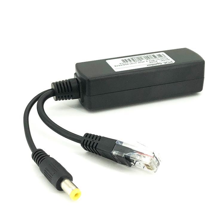 802.3af/at Pd Splitter, PoE Splitter DC12V, 10/100Mbps Isolated