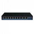 OEM 4 8 16 24 32 48 Port Gigabit CCTV Network Ethernet PoE Switch 48V 10/100/100
