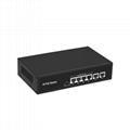 4 Ports 100Mbps PoE Network Switch with 2 Ports RJ45 Uplink POE0420BR