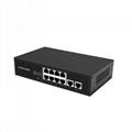 8 Port 100Mbps PoE Network Switch with 2 Ports RJ45 Uplink POE0820BR