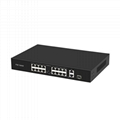 16 Ports 100Mbps PoE Network Switch with Gigabit Uplink and SFP port POE1621R-