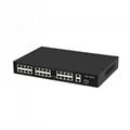 24 Port 100Mbps PoE Network Switch with Gigabit Uplink and SFP Port POE2421R-2
