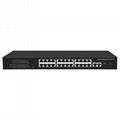 24 Port 100Mbps Managed PoE Network Switch with Gigabit Uplink and SFP port