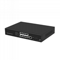 8 Port 1000Mbps Managed PoE Network Switch with 2 SFP port POE0802MR