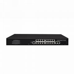 16 Port 1000Mbps Managed PoE Network Switch with Gigabit Uplink and SFP port(POE