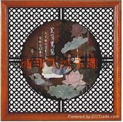 缅甸飞鸿玉雕玉石画