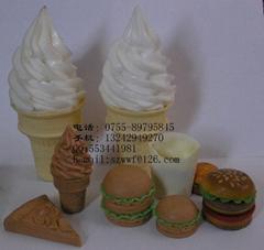 食品手办模型泥雕画图设计雕刻