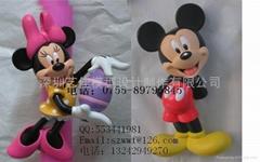 迪士尼卡通公仔树脂产品加工