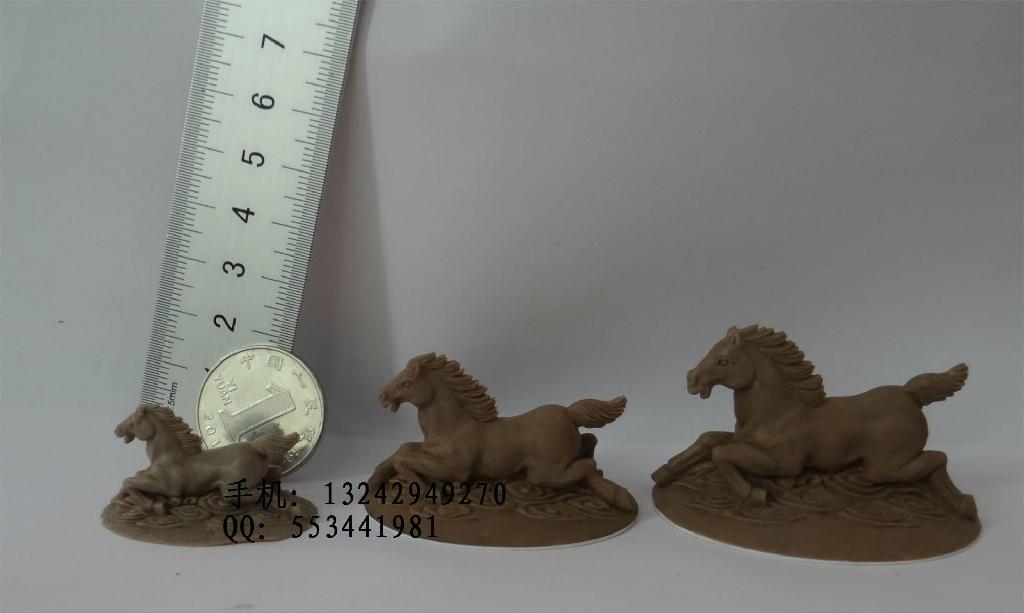 泥雕手板 小動物珠寶首飾公仔馬 1