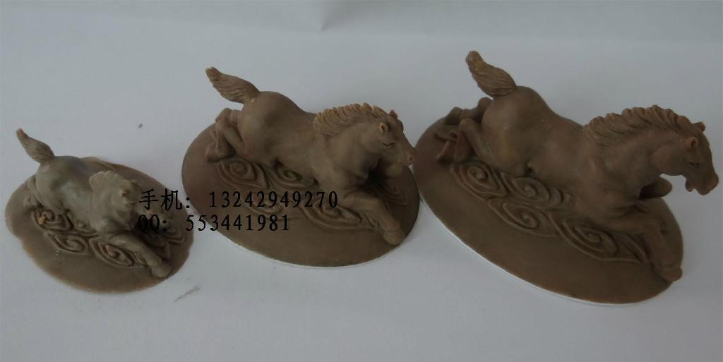 泥雕手板 小動物珠寶首飾公仔馬 2