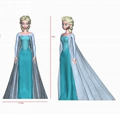 迪斯尼冰雪公主3D畫圖