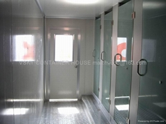 Container house with bathroom and shower