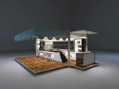 20英尺集装箱改制太阳能可移动啤酒吧咖啡吧