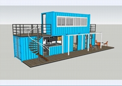 文化园集装箱式模块建筑 集装箱建筑模块 集装箱组合房屋 A05