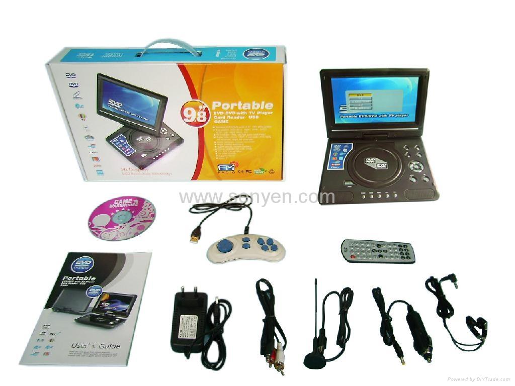 LMD998 9.8寸便攜式DVD播放器 3