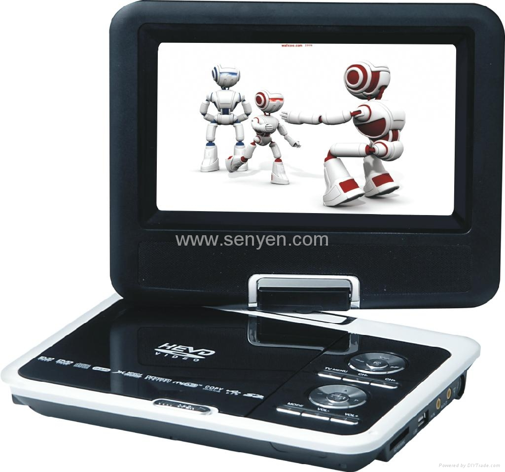供應9599 A 9.8寸 便攜式EVD DVD 高清播放器 1