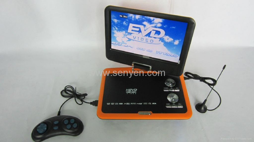 供應9599 A 9.8寸 便攜式EVD DVD 高清播放器 3