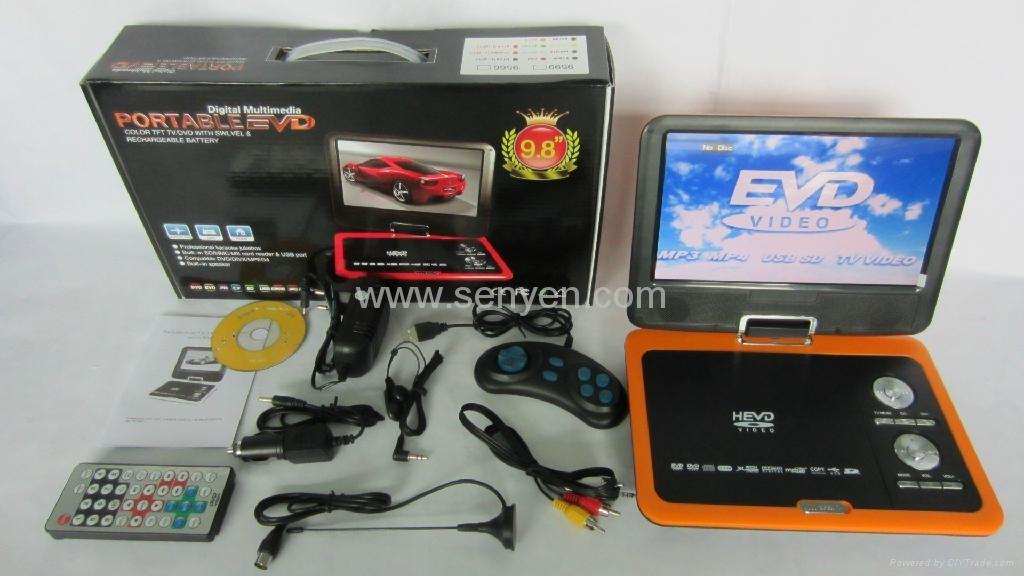 供應9599 A 9.8寸 便攜式EVD DVD 高清播放器 4