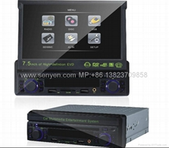 "7.5""  Car DVD player with GAME/AM/FM/SD/USB/MPEG-4"