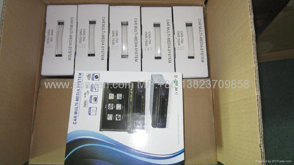 7.5寸 單綻紳縮車載DVD/遊戲機/USB/SD高清播放器 4