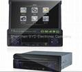 廠家供應CMS750-7.5寸 超低價 熱銷 單綻伸縮車載DVD 高清播放器 1