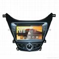 现代伊兰特 专车专用 8寸车载电脑智能Android2.3系统,WIFI,车载GPS,DVD 1